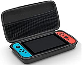 Funda para Nintendo Switch - Bolsa de goma EVA Rígida Case de Chickwin en NEGRO para la Nintendo Switch (Para meter la Consola. los Joy-Con y Otros Pequeños Accesorios)