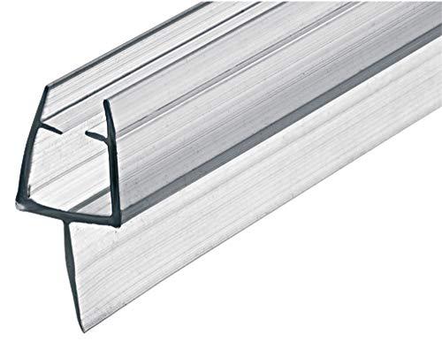 Gedotec Glastür-Dichtung 200 cm Duschtür-Dichtung DD-03 für Duschkabinen | Duschdichtung zum Abdichten vom Boden | PVC Transparent | Lippendichtung für Glasdicke 8-10 mm | 1 Stück - Dichtlippe Glas