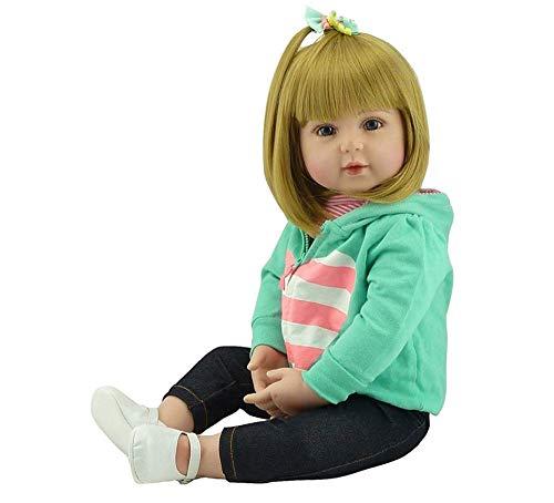 Doll Reborn 47 / 60cm Soft Touch Silicone Reborn Baby Dolls Juguetes de Vinilo Muñecas Grandes para niñas Muñecas con Cabello Rubio para niños de 3 años o más