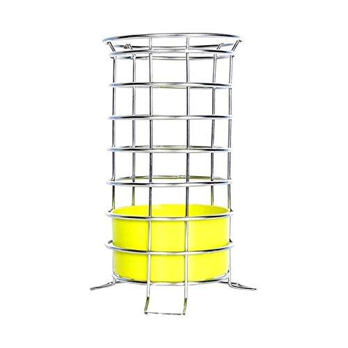 Utensilios de cocina Cubiertos Dropflower Cuchara Tenedor Palillos Cesta de almacenamiento en rack Accesorios de Cocina Herramientas Organizador acero inoxidable Casa Cuchara y palillos de tuberías