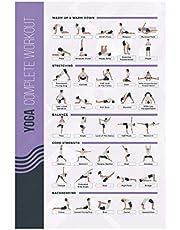 FitMate Yoga träningsaffisch – träningsrutin med fria vikter, gym inredning i hemmet, rumguide