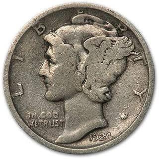 1924 D Mercury Dime Good/VG Dime Very Good