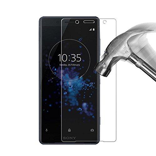COPHONE® Verre trempé Sony Xperia XZ2, Film de Protection écran Premium Anti Chocs et Casse, Anti Empreintes, Bords arrondis,dureté Max 9H Tempered Glass 2,5d