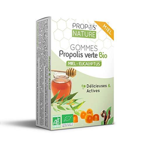 Gommes à la propolis verte Bio - Miel-Eucalyptus - Certifié AB - 45g