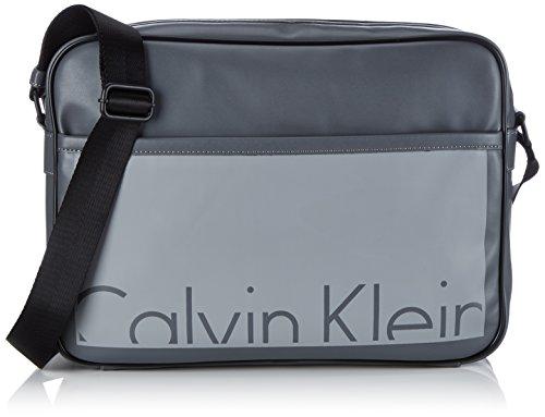 Calvin Klein Jeans Herren Cruise Messenger Umhängetaschen, Grau (Castlerock/Griffin 908), 42x31x12 cm