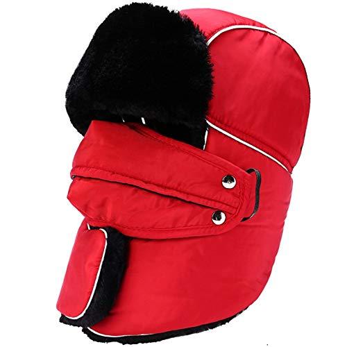 Gorras de Esquí de Invierno Oído sombrero de los deportes al aire libre de espesor suave invierno máscara de la aleta con el sombrero a prueba de viento for el esquí Actividades frío Sombrero Cálido