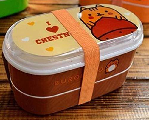 Yim Box Doppellagige Mikrowellen-Lunchbox für Lebensmittel, Picknick, Reisen, Obst, Aufbewahrungsbox für Büro Kaffee Kastanien