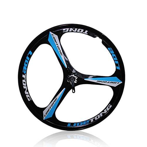 M-YN Fahrrad Laufradsatz, 26 Zoll 3-Speichen Mountainbike Integrated Rear Wheel Set Scheibenbremse Magnesiumlegierung Wheel Set (Color : Blue)