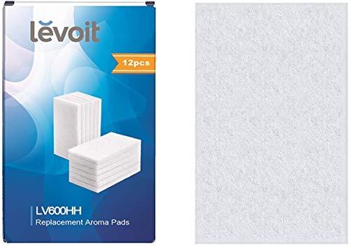 LEVOIT Almohadillas de Aroma (12 Unidades), Compatible Perfectamente con LV600HH Humidificador y también Disponible para LV450CH y LV550HH