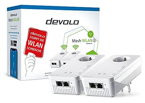 devolo Mesh WLAN 2 Starter Kit Powerline + WLAN