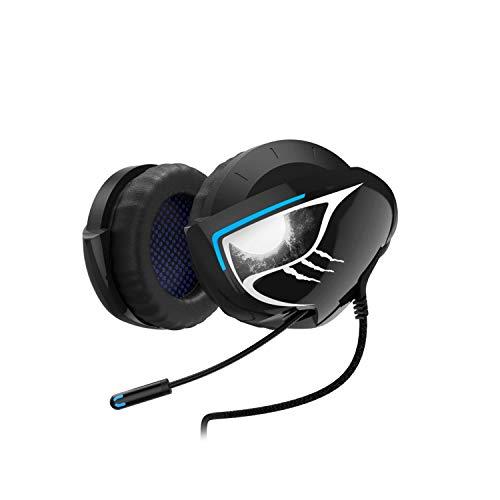 Urage SoundZ 500 Neckband Gaming-Headset (mit Mikrofon, USB, speziell für Videospiele, Kunststoff) Schwarz/Blau/Weiß