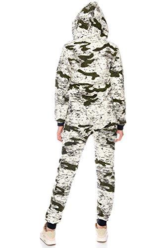 Crazy Age Jumpsuit Army Camouflage Tarnfarben Batik CA 2820 (Khaki, M) - 5