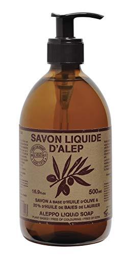 Savon liquide d'Alep 500 ml pompe
