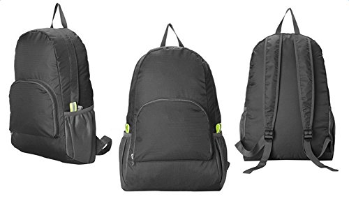 Demarkt 1 Pcs Sac de Sport en Nylon Sac de Voyage Etanche Sac Pliable Ultra-Léger 25L Sac à Dos Storage Bag pour Camping, Randonnée, Voyage