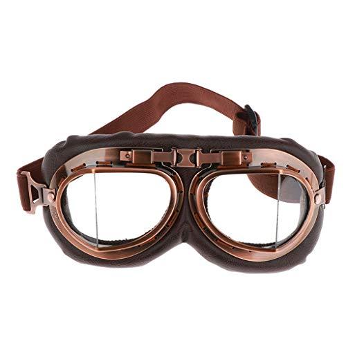 Motorradbrille Schutzbrille Überbrille Sonnenbrille mit klaren und Gelben Linsen Winddicht für Motorrad, Radfahren, Klettern