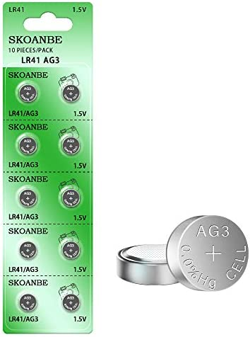 SKOANBE 10PCS LR41 392 384 192 AG3 SR41 1 5V Button Coin Cell Battery product image