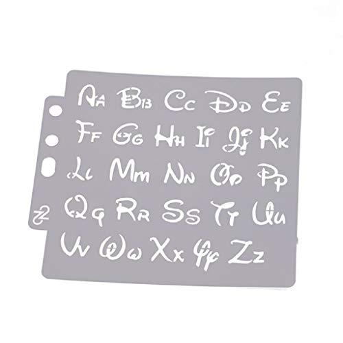 Hothap - Plantillas de letras (14 x 13 cm) para pintar, aprender y decorar la pared