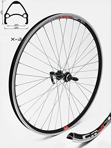 Crosser X-3, naaf JoyTech centrale vergrendeling, alleen voor schijfrem, voor alle mountainbikes en langlauffietsen, zilveren spaken