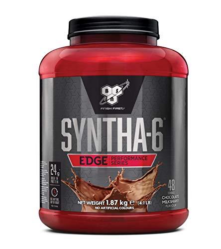 BSN Syntha 6 Edge Protein Pulver, Whey Protein Isolat mit Casein, Eiweißpulver hergestellt für Muskelaufbau und Bodybuilding, Chocolate Milkshake, 48 Portionen, 1,87kg