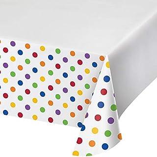 غطاء طاولة بتصميم منقط ومخطط متعدد الالوان من كرياتيف كونفيرتينغ