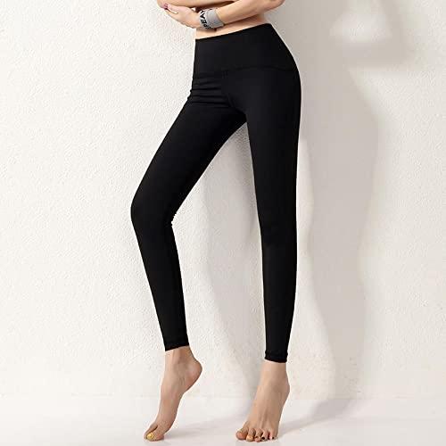 pantalones de yoga mujer leggins Nuevos pantalones de yoga de melocotón de nailon para mujer, mallas deportivas hasta la cadera, ropa exterior para correr desnuda, pantalones de fitness de secado ráp