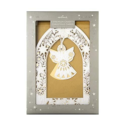 Hallmark - Tarjetas de felicitación de Navidad en caja de regalo (5 tarjetas en 1 diseño plegable)