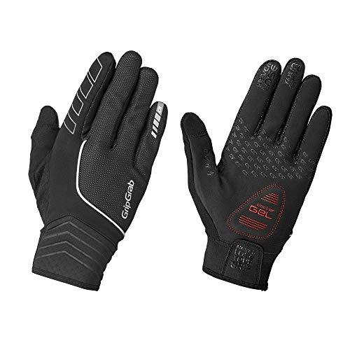 GripGrab Hurricane Hi-Vis Windproof Midseason Glove Handschuhe - Winter, Schwarz, L