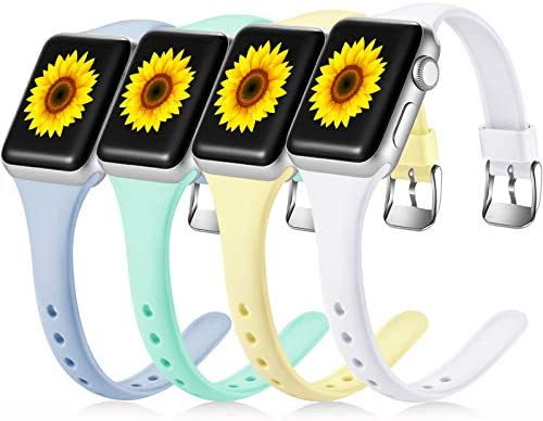 Laffav 4 Pack Bands Compatible with Apple Watch 40mm 38mm iWatch SE Series 6 5 4 3 2 1 for Women product image