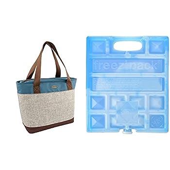 CAMPINGAZ 8820150 Sac Isotherme Mixte Adulte, Bleu/Marron, 16L & Elément de Refroidissement - Freezpack M20 - 770 Grammes - 20x17x3 cm