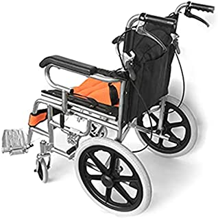 SOLID TYRE light weight FOLDABLE steel WHEELCHAIR With Four Brakes