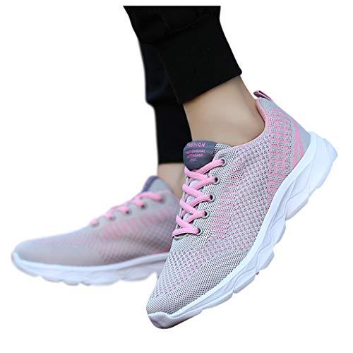 Mujer Gimnasia Ligero Sneakers Zapatillas de Deportivos de Running para Zapatillas Deportivas de Mujer Sneakers Zapatos Adulto Malla Suave Antideslizante Cómoda Zapatillas Mujer