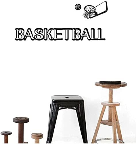 Pegatinas de pared calcomanías de arte baloncesto tema canasta decoración del hogar escuela aula arte niño habitación decoración 105X42Cm