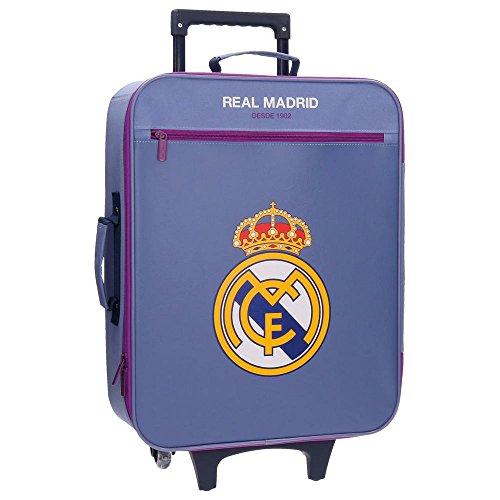 Real Madrid Magnum Equipaje Infantil, 52 cm, 26 litros, Morado