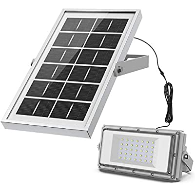 Solar Lights Outdoor, LOZAYI IP65 Waterproof Solar Light, Motion Sensor 4 Optional Luminance, 3 Timing Modes with Remote Control, Easy to Install Security Flood Lights for Front Door,Yard,Garage,Deck