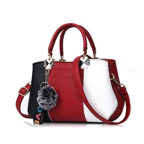NICOLE & DORIS 2021 Neue Welle Paket Kuriertasche Damen weiblichen Beutel Handtaschen für Frauen Handtasche Weinrot