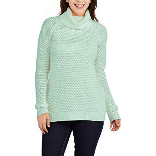 Faded Glory Women's Popcorn Tunic Turtleneck Sweater Size Large