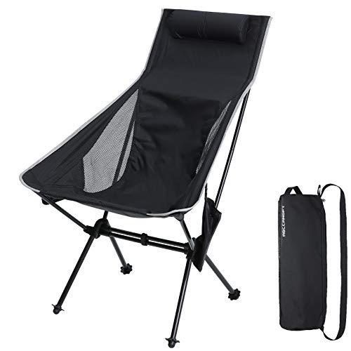 ABCCANOPY アウトドアチェア ハイバック キャンプチェア 折りたたみ椅子 キャンプ椅子 お釣り 登山 軽量 コンパクト携帯便利 耐荷重150kg 収納ケース付き