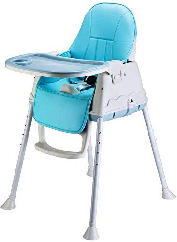 RREN Essplatzstühle mit herausnehmbaren Schale Säuglings- und Kleinkindhochstuhl Kindersitz mit einem höhenverstellbaren Beins,Blue