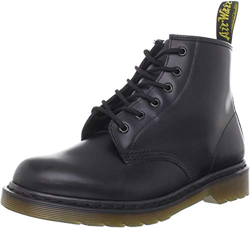 Dr. Martens 101 Smooth 6 Eye Boot , Stivaletti Unisex Adulto, Nero, 39