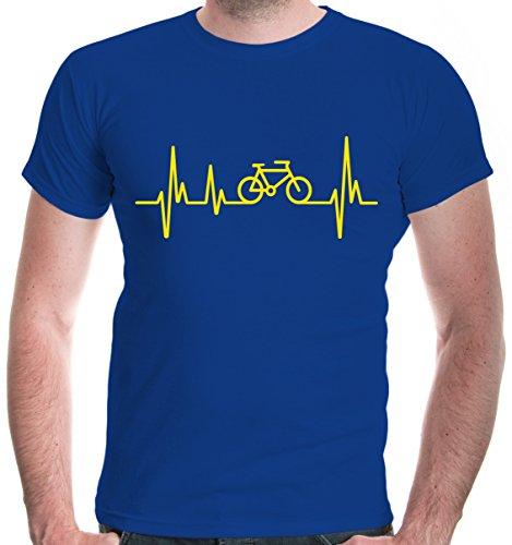 buXsbaum® Herren T-Shirt Frequenz Cycle   Fahrrad Bike Rad Bicycle Velo Drahtesel   XL, Blau