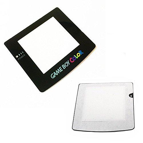 Ersatz-Objektiv-Abdeckung für Game Boy Color GBC System (mit Klebefläche auf der Rückseite) Schwarz