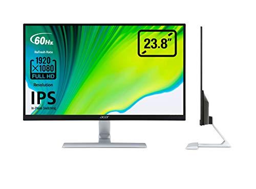 Acer RT0 (RT240Ybmid) 60 cm (23,8 Zoll) Monitor (VGA, DVI, HDMI, 4ms Reaktionszeit, 1920 x 1080, EEK A) schwarz/silber