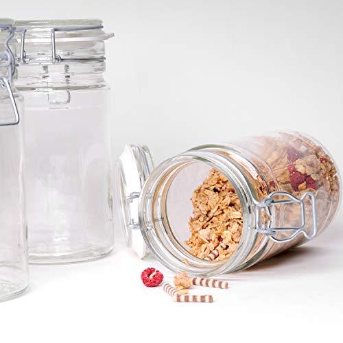 Gläser mit Bügelverschluss Vorratsbehälter, Luftdichte Konservierung, Einweckgläser in Top Qualität (6, 500ml)