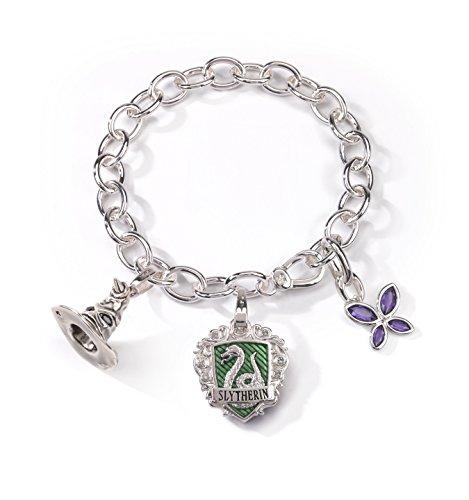 Bracelet Charms - Lumos Serpentard - Plaqué Argent - Noblecollection - Harry Potter - NN7710