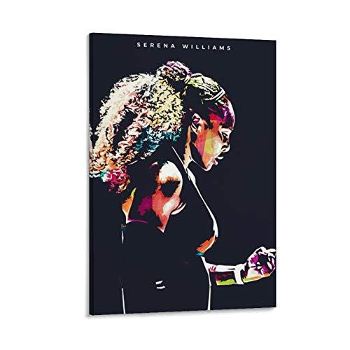 LKJHLK Póster de Serena Williams de tenis deportivo 5 para decoración de...
