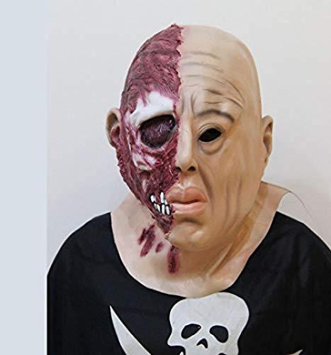 shiyusheng Maquillaje de Halloween Carnaval Mitad Hombre Mitad Cara Mitad Cuerpo Máscara...