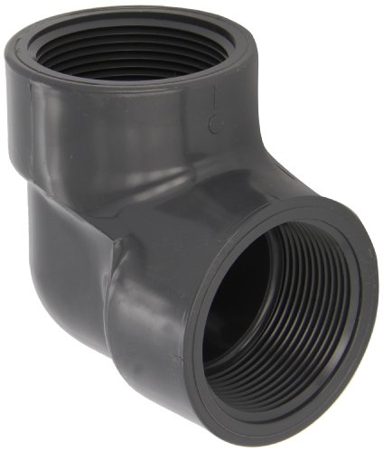 Spears 808 Series PVC Pipe Fitting, 90 Degree Elbow, Schedule 80, 2