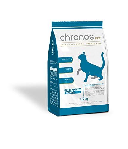 Ração Chronos Pet Gatos Super Premium Adultos Castrados Sabor Frango 1,5kg Chronos Raça Adulto, Sabor Frango
