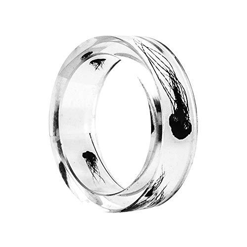 Outflower Ringe für Damen & Herren Edler Harzring Geeignet als Verlobungsringe, Freundschaftsringe & Partnerringe