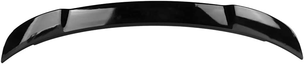 Autoforever Pre-Painted Rear Trunk Spoiler Fit for 2011-2017 Dodge Charger SRT8 Style Trunk Boot Lip Spoiler Wing Add On Deck Lid Bright Black